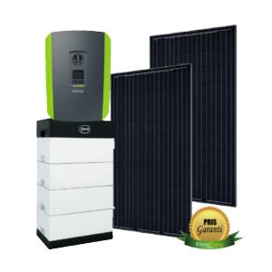 hybrid solcelleanlæg eksempel